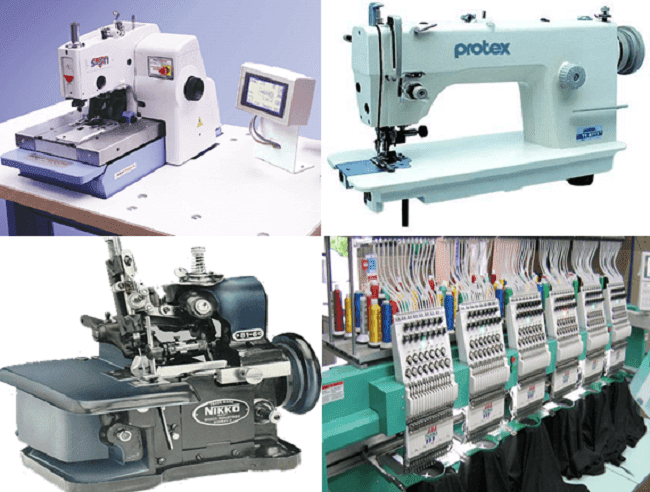 List of Garment Machine with Specification and Function