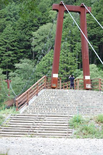 穂高への分岐の橋の写真