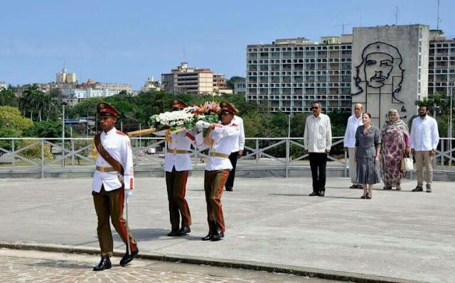 رئيس المجلس الوطني الصحراوي السيد خطري أدوه يشرع في زيارة عمل الى كوبا الشقيقة.