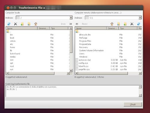 TeamViewer su Ubuntu - trasferimento file