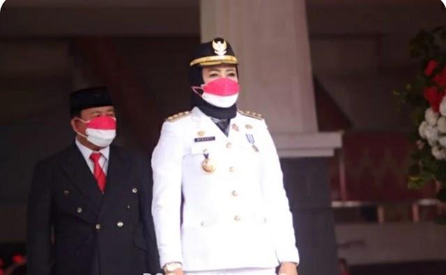 Bupati Tuba Menghadiri Peringatan Hari Kemerdekaan Republik Indonesia Ke-76 Dilakukan Secara Protokol Kesehatan Yang Ketat