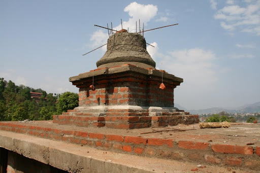 The Kadampa stupa on the Animal Liberation Sanctuary land near Kopan in Nepal, April 2012. Photo by Tania Duratovic.