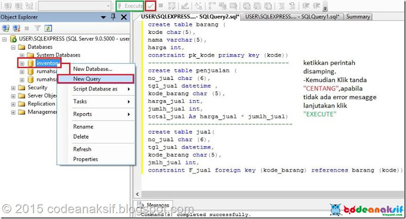 Cara Membuat Database Inventory dengan SQL Server 2005