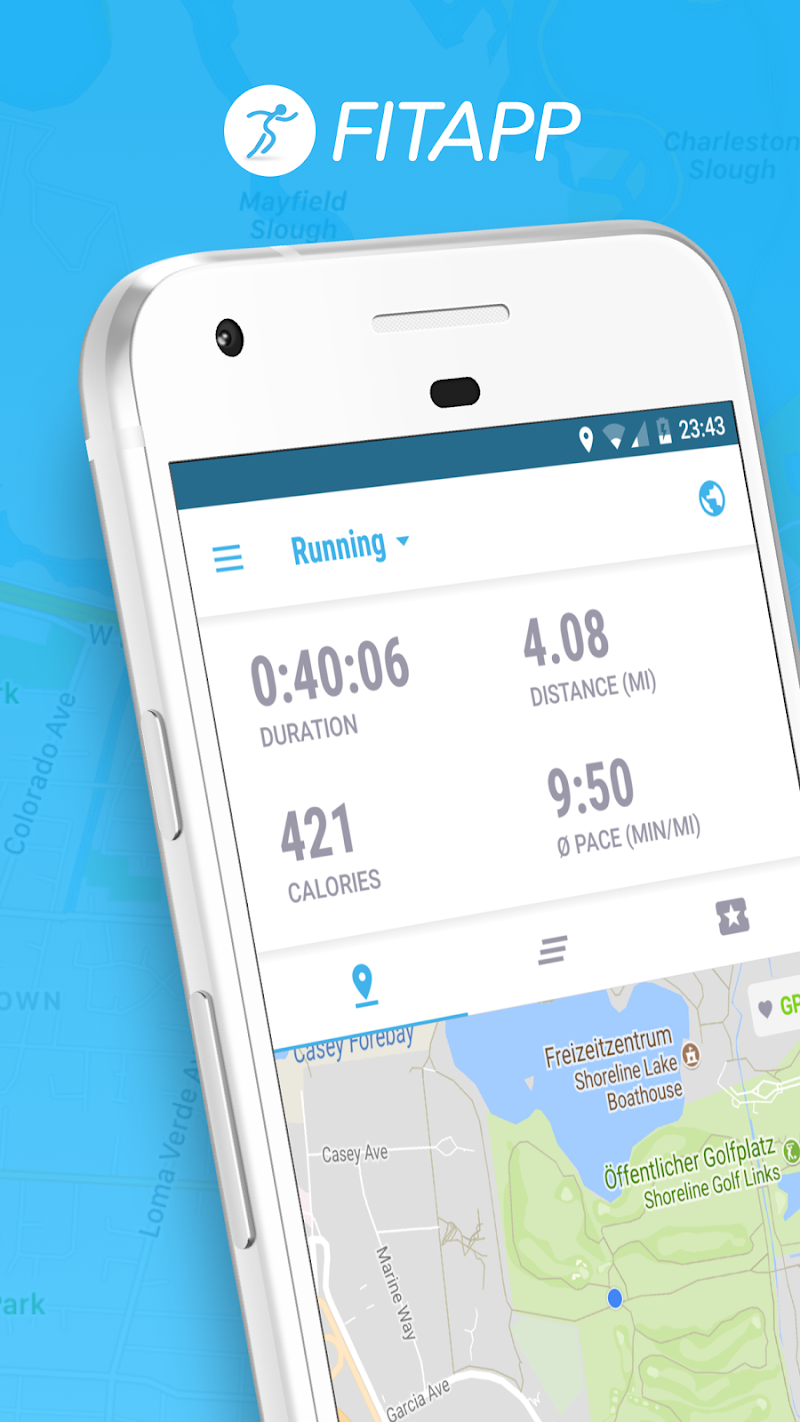 Running Walking Jogging Hiking GPS Tracker FITAPP Screenshot 1