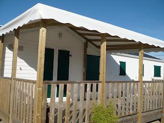 Terrasse pour résidence mobile et habitation - TIPI BOIS