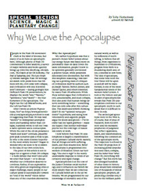 Cover of Toby Hemenway's Book Why We Love the Apocalypse