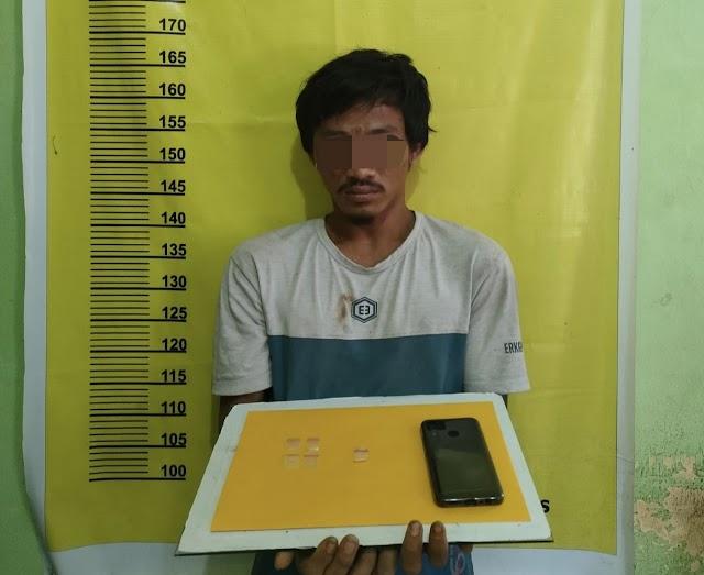 Pengedar Sabu Asal Bongkal Malang di Ciduk Polsek Kelayang Saat Tidur