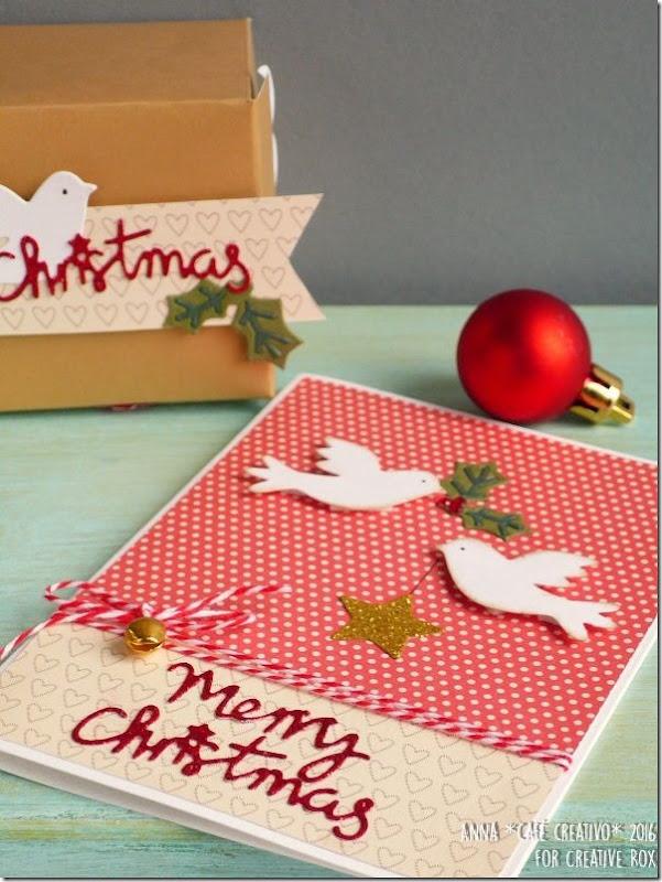 Idee Natale - Card e scatolina coordinata con la Big Shot e Fustelle Sizzix