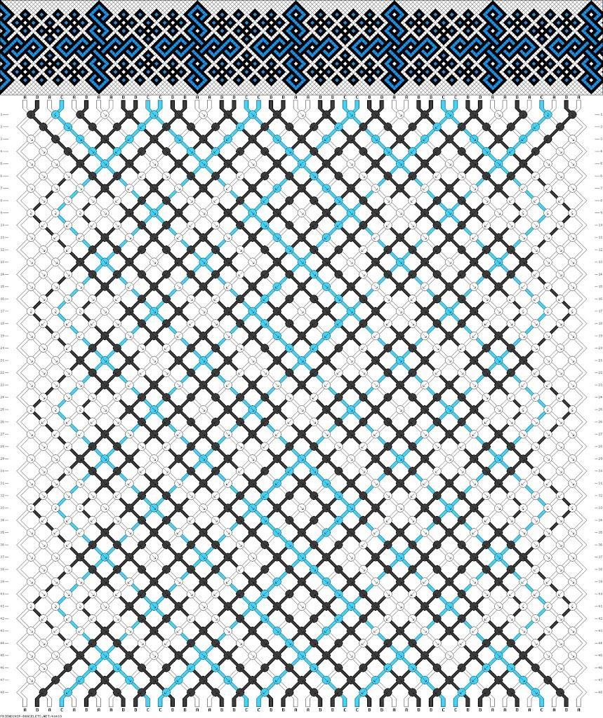 плетение из бисера схема фенечка