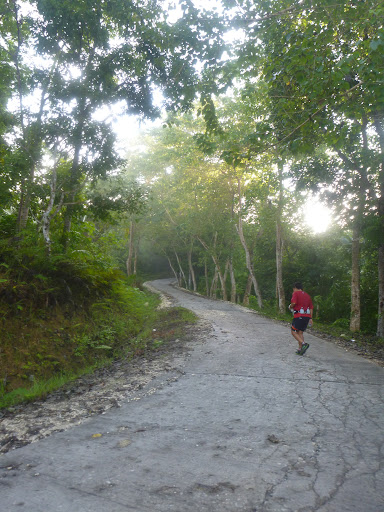 start of uphill to Cruz Daku, Loboc, Bohol