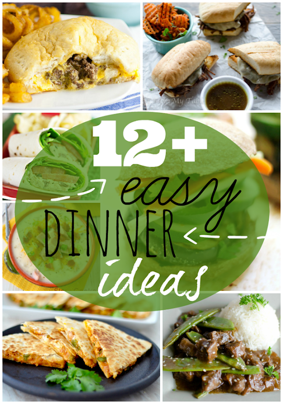 12  Easy Dinner Ideas at GingerSnapCrafts.com #dinner #recipes