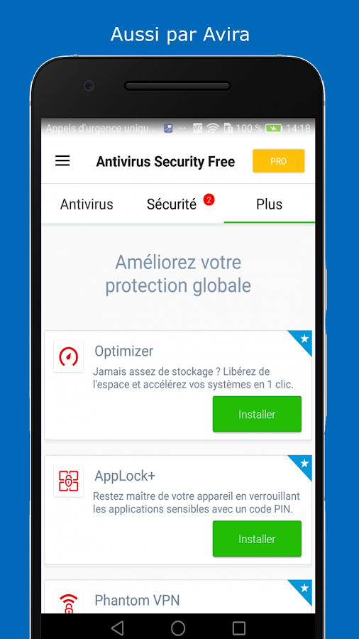 avira antivirus gratuit applications android sur google play. Black Bedroom Furniture Sets. Home Design Ideas