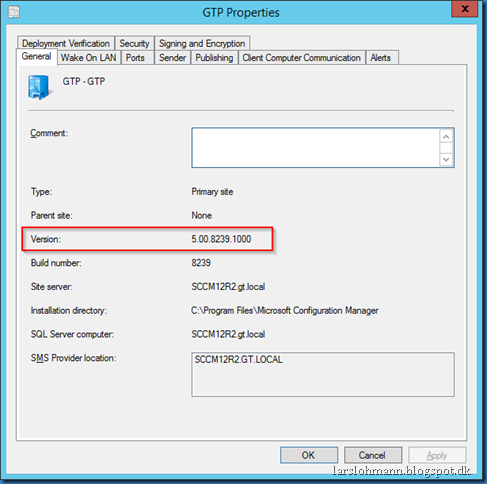 MINDCORE BLOG: Has SCCM 2012 R2 SP1 been installed?