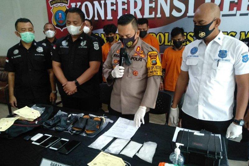 Waka Polrestabes Medan : Empat Kurir Narkoba Asal Aceh Ditangkap di Hotel