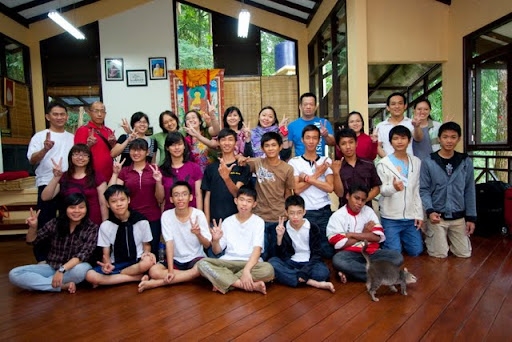 Senior high school retreat participants, Potawa Center, July 2011, Indonesia