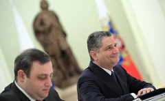 Russian President with Tigran Sargsyan in Kremlin.