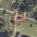 Схема размещения растений на спутниковом снимке сада Миллениум. Выбран участок 20*30м