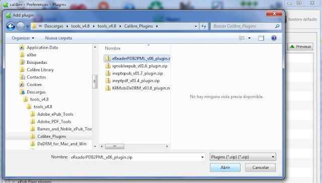 tutorial Calibre quitar DRM 006