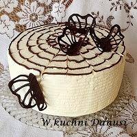 tort z masą kajmakową i borówkami