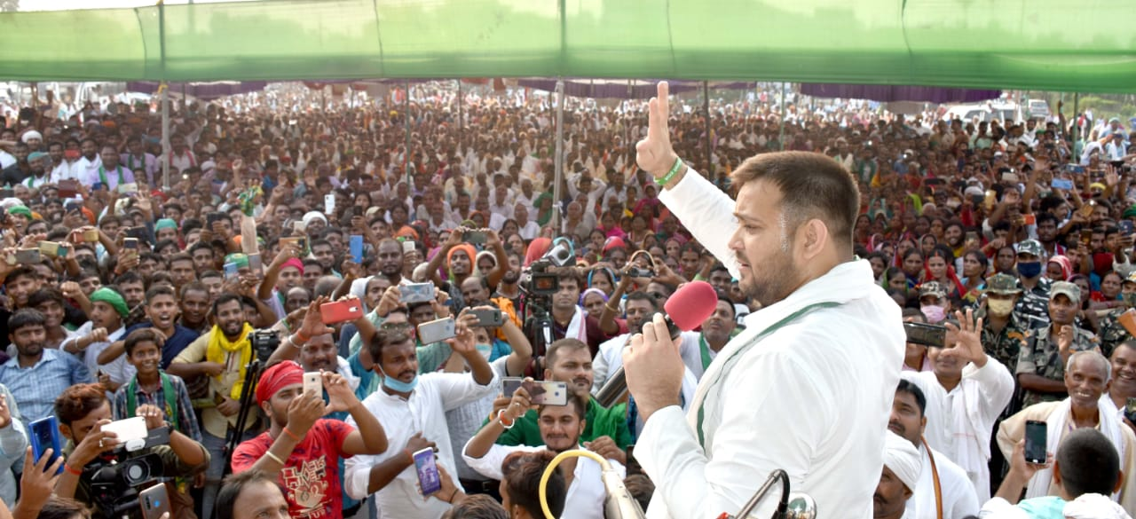 Bihar Election:तेजस्वी यादव बोले- मैं ठेठ बिहारी हूं, मेरा DNA शुद्ध है, CM नीतीश कुमार पर साधा निशाना