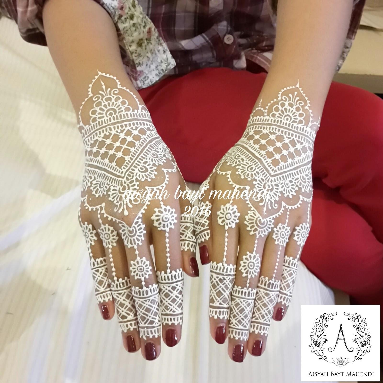 Henna Wedding Putih Simple Berbagi Ilmu Belajar Bersama