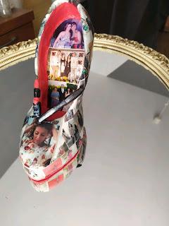 Fotos en un zapato, zapato portafotos