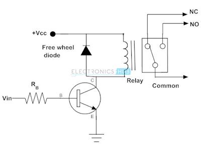 Rangkaian transistor sebagai saklar relay
