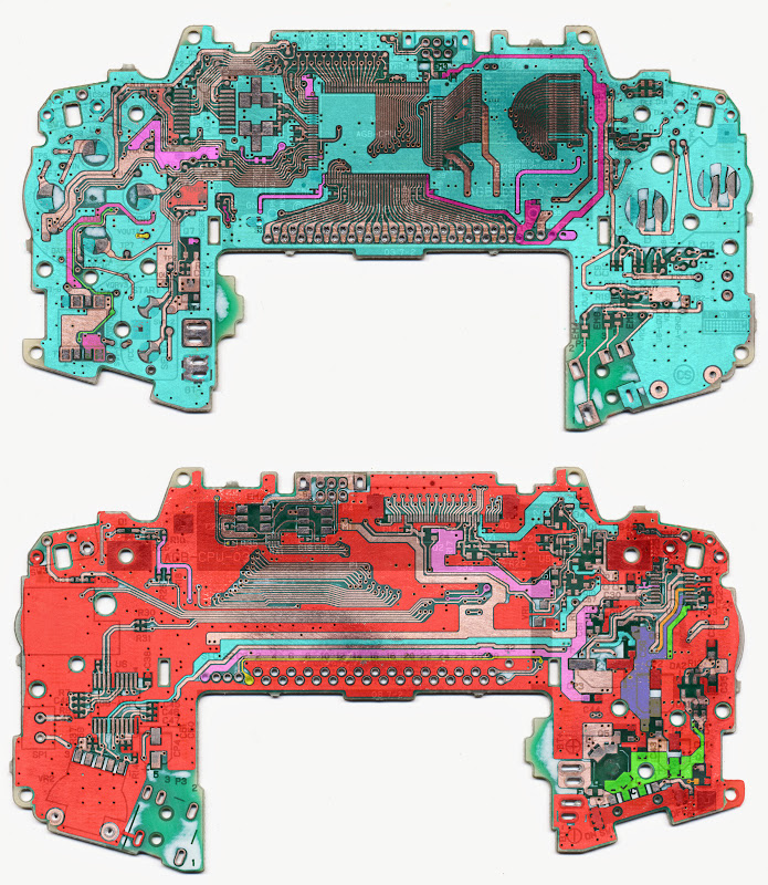 Game Boy Advance Schematic (Cadsoft Eagle Files) | EMbler ... Gameboy Color Schematic on