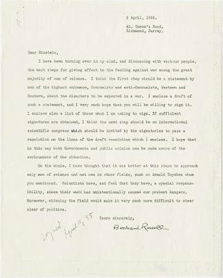 La última carta de Einstein