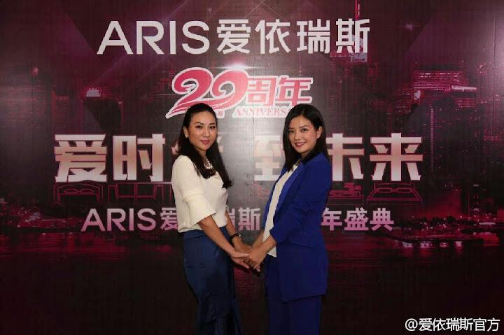 2015.07.02_Triệu Vy trở thành gương mặt đại diện của ARIS-Hãng ghế sofa