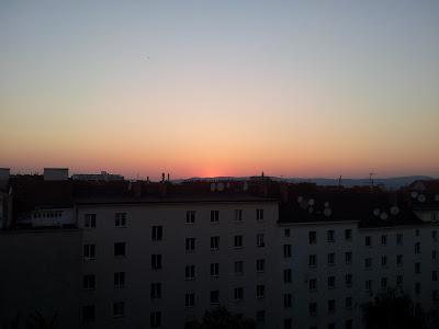Traumhafter Sonnenuntergang am 17.06.2013 nach 33°C Höchsttemperatur