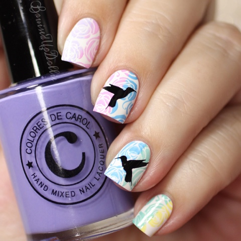 Spring Nail Art Ft Colores De Carol Bruisedupdollie Nails