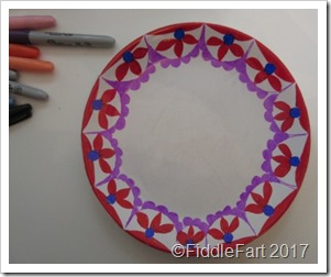 Sharpie Pen Painted Plate