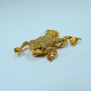 Christian Dior Frog Brooch