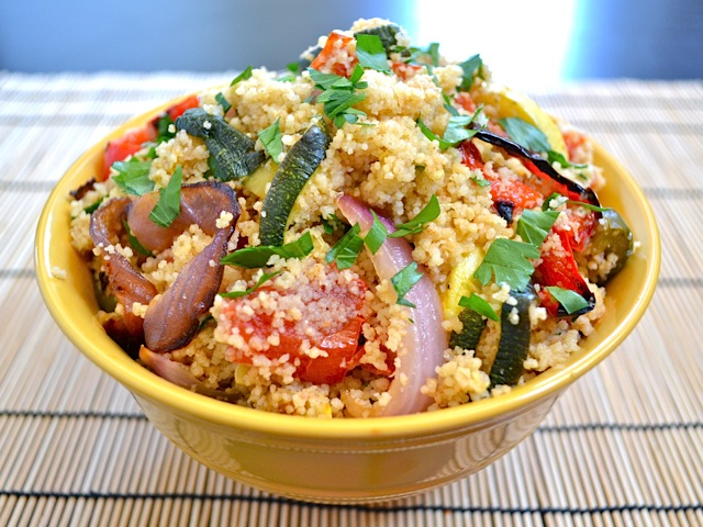 how to cook couscous in a bowl