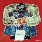 047 - Le Mendiant - 1993 60 x 60 - Acrylique sur stratifié