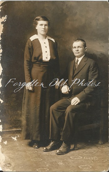 Unknown couple Duluth Postard Noko
