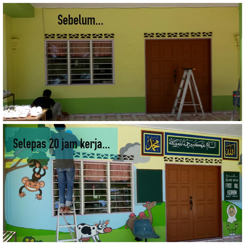 Blog seni khat rahman sahlan mural khat pandai khat mudah for Mural kartun