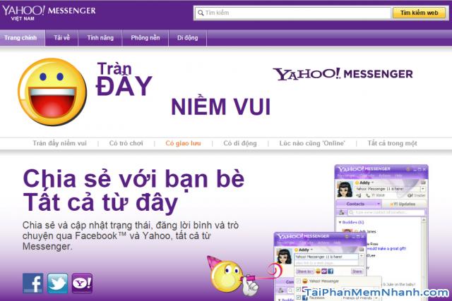 Chức năng của phần mềm Yahoo messenger