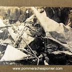 English airman killed under the debris of his plane