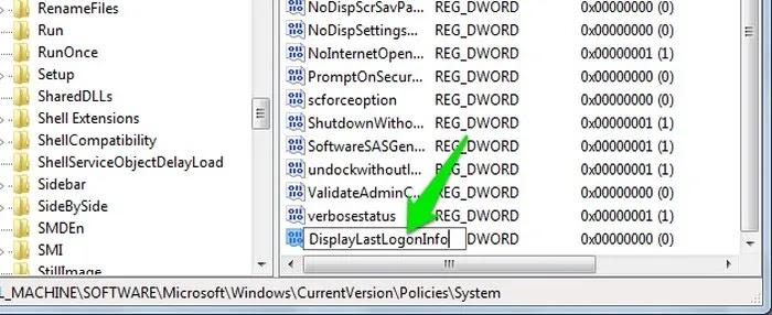 شخص آخر يستخدم جهاز الكمبيوتر الخاص بك عرض المعلومات عند تسجيل الدخول