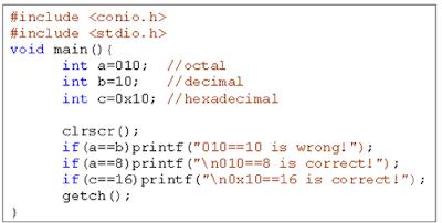 Ví dụ về hằng số nguyên - tinhoccoban.net