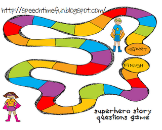 Super Hero Story Recall and Comprehension Story Questions Game