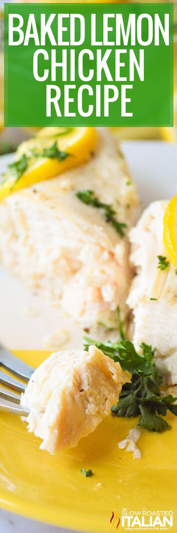 Baked Lemon Chicken Recipe closeup