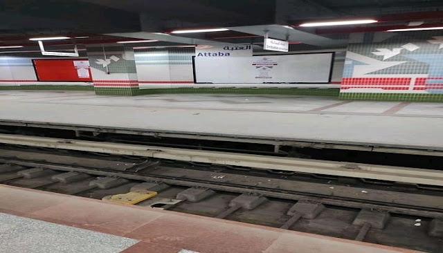 ازاي بيشتغل مترو الانفاق وبيتغذي من الفضبان في خط شبرا المنيب
