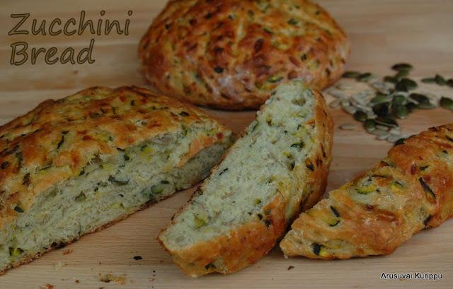 ... Vegan Zucchini Bread - Vegan Courgette Bread - Savoury Zucchini Bread