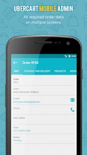 UberCart Mobile Admin - náhled