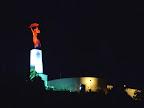 A nemzeti színekkel megvilágított Gellért-hegyi Szabadság-szobor 2016. június 22-én. Ezen a napon Magyarország  magyar válogatott csoportelsőként jutott tovább a franciaországi labdarúgó Európa-bajnokságon. MTI Fotó: Máthé Zoltán)
