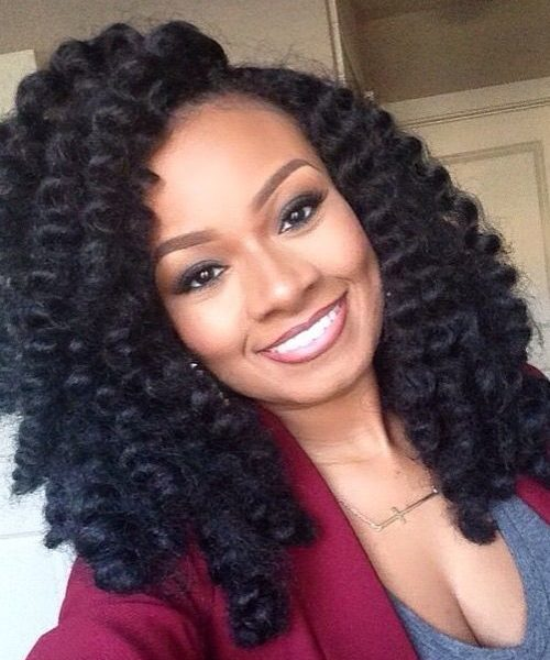 WATERFALL LOOK FOR AFRICAN BRIDE HAIR STYLES 2