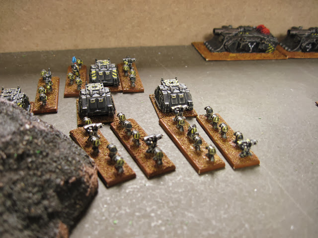 Chris' Iron Warriors make ready on the baseline.